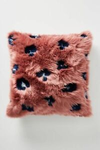 Anthropologie Dalia Luxe Faux Fur Cushion Pillow-$78 MSRP