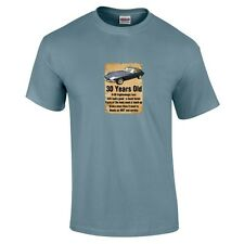 30 Year Old 30th Birthday Gift Funny E Type Jaguar T-Shirt Colour Choice to 5XL