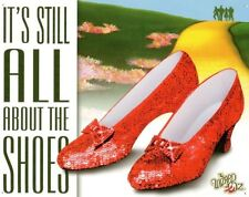 Wizard of Oz It's All About the Shoes Ruby Dorthy Movie Metal Tin Sign