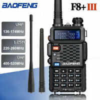 BAOFENG BF-F8+ III Tri-Band Ham VHF/UHF 2 Way Walkie Talkie FM Radio + Earpiece