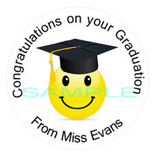 35 Personalised Graduation Stickers Labels - school - nursery - university