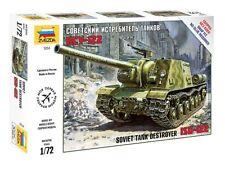 ZVEZDA 5054 SOVIET TANK DESTROYER ISU-122 SCALE MODEL KIT 1/72