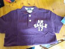 SM (Small) American Eagle Outfitters Purple & White Top Button Front Shirt