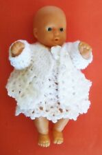 crochet dress and sweater for doll 20 cm 8 inch, handmade doll clothes