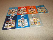 1987-88 Topps 6 Surf Books Cubs Angels Sox Tigers Twins Padres