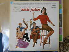 """WANDA JACKSON   LP  CAPITOL   """" THERE'S A PARTY GOIN' ON """"   [France]  /  [RE]"""