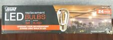 FEIT LED Replacement String Light Bulbs 24-pack Upgrade from Incandescent ~NEW~
