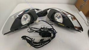Complete Front Fog Lamp Kit 18-19 Traverse 84739006 w/ Harness Switch & Bezels