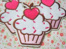1 X Dulce Corazón Magdalena hierro en apliques bordados PATCH BADGE Hazlo tú mismo motivo
