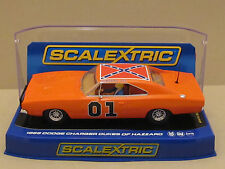 "C3044 SCALEXTRIC 1969 Dodge Charger GENERAL LEE ""DUKES OF HAZZARD"" Slot Car 1:32"