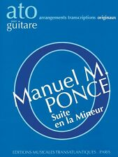 Suite en la Mineur Sheet Music Guitar Solo Book NEW 014040881