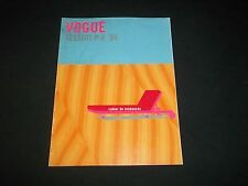 2004 VOGUE L'UOMO FABRICS MAGAZINE - TERMS OF TRENDS - FASHION COVER - F 3108