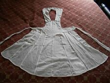 Vintage apron - white goes around neck- has neat patch