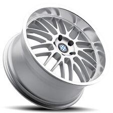 "18"" Staggered Silver Beyern Mesh Wheels Rims 5x120 BMW 3 Series E90 E92 335 328"