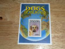 Tanzania Souvenir Sheet MNH #1179 Dog Great Dane