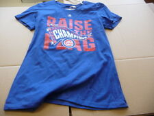 CHICAGO CUBS LADIES WOMEN MISSY TEE T-SHIRT MAJESTIC RAISE THE FLAG NL LARGE L