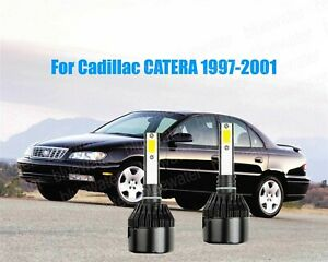 LED For Cadillac CATERA 1997-2001 Headlight Kit H7 White CREE Bulbs Low Beam