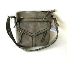 NWT! Women's VR NYC Flap Crossbody Bag - Charcoal Gray