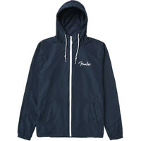 Fender® Spaghetti Logo Windbreaker, Navy, S, Small
