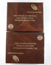 2013 W $50 1 Oz 9999 GOLD AMERICAN GEM Reverse Proof Buffalo COIN +COA & OGP
