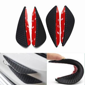 Car Front Bumper Rubber Carbon Fiber Splitter Fin Spoiler Canard Body Sticker
