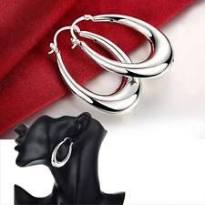 New Fashion 925Sterling Silver Hollow U Hoop Ear Ring Earrings Ear Clip For Gift