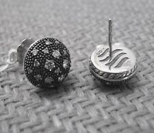 NEW DAVID YURMAN STERLING MIDNIGHT MELANGE EARRINGS WITH DIAMONDS (retail $1950)