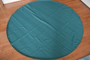 """GREEN ROUND  TABLECLOTH~ 70""""~ Green on Green Woven Design"""
