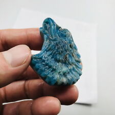 Natural Blue apatite crystal product hand-carved  eagle head 41g