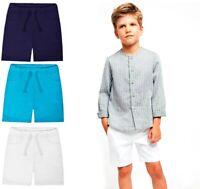 Boys Kids Junior Shorts Cotton PE School Summer Running Sports Shorts