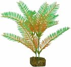 GloFish Plant Aquarium Decor Green  Orange Medium 7.5 inch Aqua weighted decor