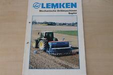 158074) Lemken Drillmaschine Saphir Prospekt 03/2001