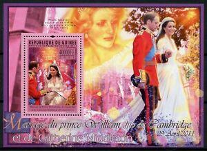 Guinea Royalty Stamps 2011 MNH Royal Wedding Prince William & Kate 1v S/S