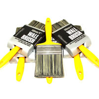 "TRADE PACK 6 x WALL BRUSHES 100mm 4"" - MASONRY PAINT BRUSH EMULSION PAINTBRUSH"