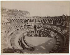 ANTIQUE ALBUMEN PHOTO ROMAN COLOSSEUM ROME, ITALY