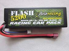 Avioracing Flash 5200 Monza Sport Batterie LiPo 7,4V 5200mAh Racing Car Pack
