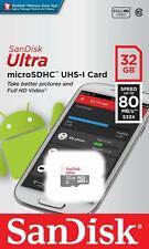 SanDisk® Ultra® 32GB microSDHC™ Memory Card UHS-1 80MB/s Class 10 Genuine