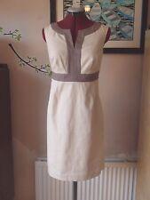 Stunning BODEN Notch Neck Shift Dress UK Size 10 R *NEW* Vanilla/Latte 10R RARE