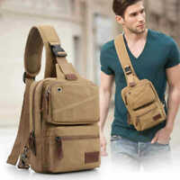 Canvas Sling Bag One Strap Backpack Rucksack Chest Pack Single Strap Daypack