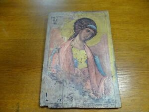 Belle Icon Religious On Wood Angel École Of Novgorod
