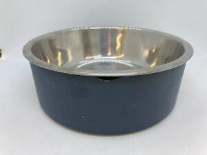 New Boots & Barkley 2 Piece Large Speckle Melamine Dog Bowl Blue