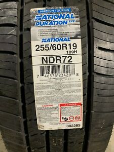 1 New 255 60 19 National Duration EXE Tire