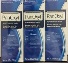 3 Tubes Stiefel PanOxyl Acne Foaming Wash Benzoyl Peroxide 10% 5.5oz EXP:09/2021