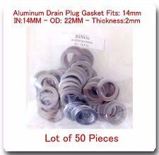 LOT 50 Aluminum Oil Drain Plug Gasket 14mm Fits: Honda & Acura Jeep Kia Suzuki