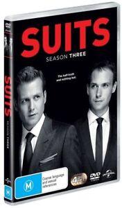 Suits : Season 3 (DVD, 2014, 4-Disc Set) Series New Sealed