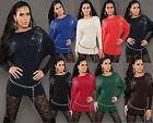 VESTITO DI Maglia KOUCLA vestitino maglione lungo rivetti strass Pullover