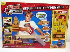 Real Construction Deluxe Workshop Set 135+ Pieces Kid Wood Tools Projects