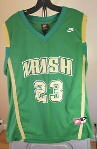 St.Vincent-St.Mary Irish High School Nike  Green Lebron James #23 Medium Jersey