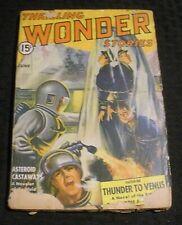 1942 June THRILLING WONDER STORIES Pulp Magazine v.22 #2 GD 2.0 Thunder to Venus