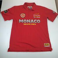 Gazzoil France Men's Monaco GP Grand Prix Red Polo Shirt Size XL
